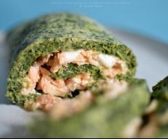 Rotolo di frittata agli spinaci con salmone e mozzarella - Contest aperitivo