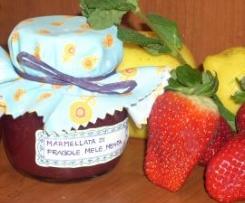 Marmellata di fragole, mele e menta