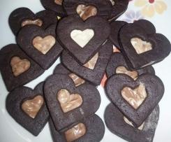 """Biscotti """"doppio cuore"""" ripieni"""