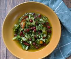 Minestrone di verdure con fagioli rossi