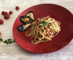 Spaghetti risottati con cozze