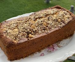 Plumcake avena, nocciole e gocce di cioccolato