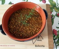 Zuppa di lenticchie con e senza pasta