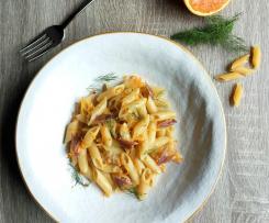 Pasta con Acciughe e Succo di Arance e Finocchietto selvatico