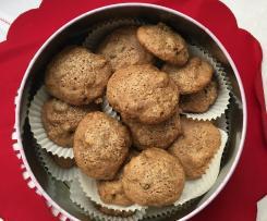 Cookies integrali ai frutti di bosco,cannella,noci e zenzero-Contest Natale