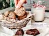 Biscotti cioccolato e mandorle con grano saraceno