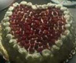 torta panna e fragoline