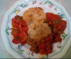 Crocchette carote e ricotta con  peperoni caramellati - contest secondi e contorni