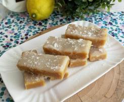 Lemon coconut slice (barrette cocco e limone, senza cottura)