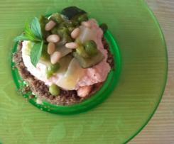 Sbrisolona Salata con Spuma di Ricotta & Dadolata di verdure (Senza Glutine) -contest stuzzichini-