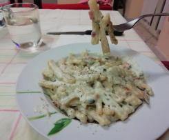 Pasta risottata zucchine, speck e ricotta