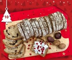 Pane dolce dell'Avvento con farina di castagne,noci e uvetta a lievitazione naturale - Natale