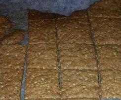 Crackers senza glutine con farina di lenticchie e mandorle