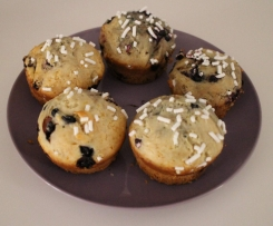 Muffin ai mirtilli (senza uova, né burro)