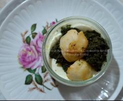 Crema di Burrata, Spinaci e Capesante