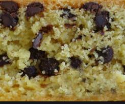 Torta rustica con cocco e gocce di cioccolata