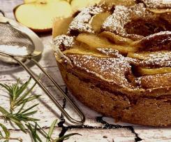 Ciambella di mele e castagne al vapore aromatizzata al rosmarino e rum(gluten free)