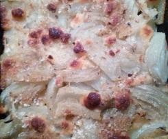 finocchi e patate gratini. (veloci)