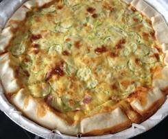 torta salata zucchine prosciutto formaggio