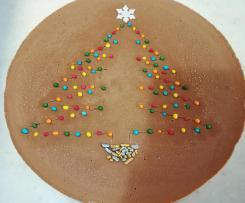 Torta tre cioccolati natalizia