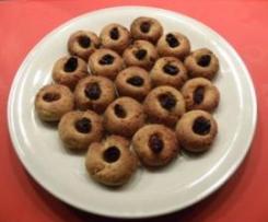 Mini biscotti linzer