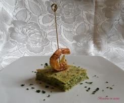 Lasagne con pesto e gamberoni