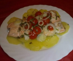 Filetto di salmone al cartoccio