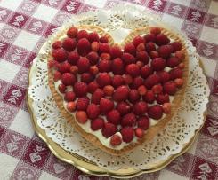 Cuore di cioccolato bianco, ricotta e lamponi - Contest Festa della Mamma