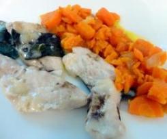 Fettine di pollo all'aceto balsamico con carote stufate