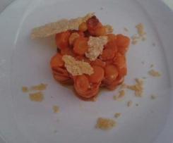 carote in fiore con triangolo di parmiggiano