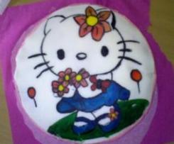 TORTA HELLO KITTY (Per il compleanno della mia sorellina)