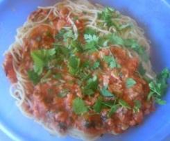 Spaghetti pomodoro e salmone