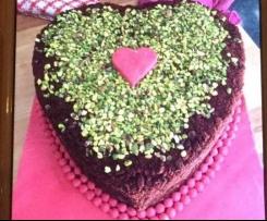 Torta cuore red velvet