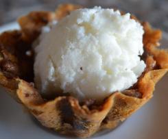Cestino di biscotto con gelato allo yogurt contest dessert yogurt