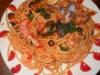 Bucatini Con frutti di Mare e olive Nere