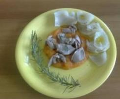 sottocosce di tacchino con purea di verdure