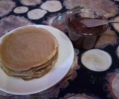 La colazione della domenica ~ Pancrepes e crema di nocciole e cacao
