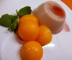 Bavarese al melone aromatizzata al Porto