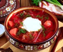 Borsch - zuppa con barbabietola - ricetta Europa dell'est