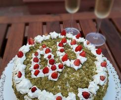 """Torta di Auguri al Tè Matcha e Fragoline - """"Contest 40 anni di Bimby"""""""