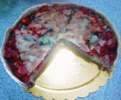 Torta di patate, prosciutto e pomodorini