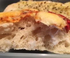 Pan focaccia con lievito madre