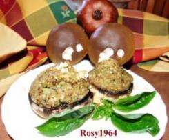 Funghi Ripieni di Zucchine e Nocciole al Profumo di Basilico