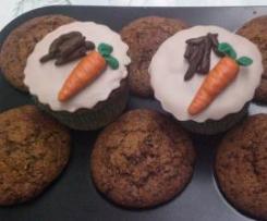Muffin alle mandorle, carote e cioccolato con nutella