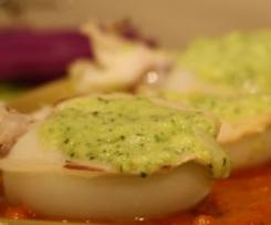 seppie ripiene alla crema di zucchine