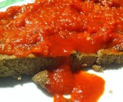 Farifrittata con farina di lenticchie e ragù di verdure