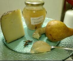 Gelatina al vino bianco, pera e zenzero