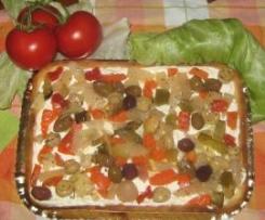 TORTA  COLORATA AL FORMAGGIO