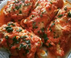Omelette al pomodoro tonno e mozzarella