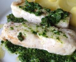 Pesto in verde col merluzzo